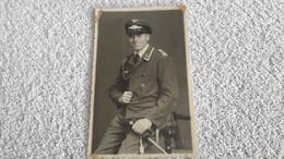 Foto Soldat Der Luftwaffe Abzeichen Dolch Uniformen 2 WK Militär Wehrmacht Postkarte - 1939-45