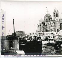 -  MARSEILLE - Photo, - La Cathérrale,  Vers 1880/ 1890, Quai, Bateau L'Auvergnat, Belle Animation, TBE. - Reproductions