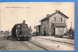 37 - Indre Et Loire -   Gizeux Continvoir - La Gare  - Train   (N5966) - Autres Communes
