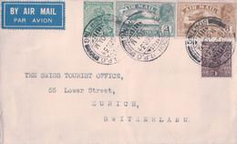 Inde GB, Lettre Par Avion, Rangoon - Zürich Suisse (25.9.1934) - 1911-35 King George V