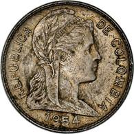 Monnaie, Colombie, Centavo, 1954, TTB, Nickel Clad Steel, KM:275a - Colombia