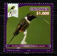 A607F-KOLUMBIEN - 2018- MNH - BIRD - CALLIPHLOX MITCHELLI - RISARALDA BIRD FESTIVAL - Colombia