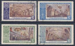 Soviet Unie CCCP Russia 1952 Mi 1659 /2 YT 1642 /5 Sc 1656 /9 SG 1791 /4 - Used - Underground Stations / Moscow Metro - Treinen