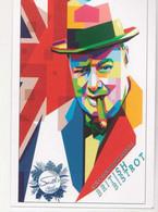 Fre461 Freecard Promozionale British Bistrot Winston Churchill Pop Art Sigaro Cigar - Hotels & Restaurants