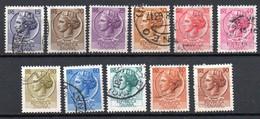 ITALIE N° 714 à 719B O Y&T 1955-1960 Monnaie Syracusaine - 1946-60: Used