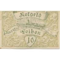 Billet, Autriche, Loiben, 10 Heller, Blason 1920-11-30, SPL, Mehl:FS 1096a - Austria