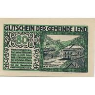 Billet, Autriche, Lend, 80 Heller, Pont, SPL, Mehl:FS 511IIa - Austria
