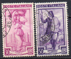 ITALIE N° 708 Et 709 O Y&T 1955-1957 L'Italie Au Travail - 1946-60: Used