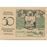 Billet, Autriche, Kammern Am Kamp, 50 Heller, Château, 1920 SPL Mehl:FS 424 - Austria