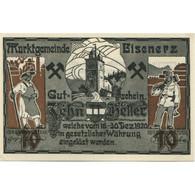 Billet, Autriche, Eisenerz, 10 Heller, Château 1920-12-31, SPL, Mehl:FS 169 - Austria