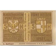Billet, Autriche, Imst, 50 Heller, Blason, 1920, 1920-12-31, SPL, Mehl:FS 405a - Austria