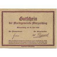 Billet, Autriche, Mür Aufchlag, 10 Heller, Chalet, 1920 SPL Mehl:FS 639c - Austria