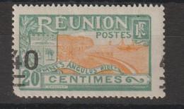 Réunion 1922-27 Série Courante Surchargée 97e Surcharge Très Déplacée 1 Val ** MNH, Un Coin Rogné - Nuevos