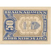 Billet, Autriche, Braunau, 50 Heller, Village, 1920-12-31, SPL, Mehl:FS 101 - Austria