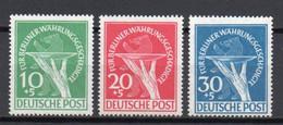 - BERLIN N° 54/56 Neufs ** MNH - Série Complète FÜR BERLINER WÄHRUNGSGESCHÄDIGTE 1949 - Cote 375,00 € - - Ongebruikt
