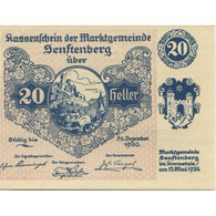 Billet, Autriche, Senftenberg, 20 Heller, Paysage 1920-12-31, SPL Mehl:FS 993g - Austria