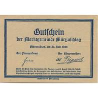 Billet, Autriche, Mür Aufchlag, 20 Heller, Château 1920-08-18, SPL Mehl:FS 639c - Austria