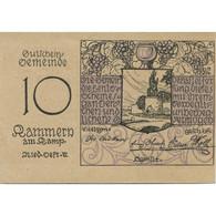 Billet, Autriche, Kammern Am Kamp, 10 Heller, Château 1920-12-31 SPL Mehl:FS 424 - Austria