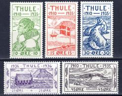 GRÖNLAND, THULE 1935 25. Jahrestag Der Gründung Thule-Siedlung, Postfrisch ** - Thule