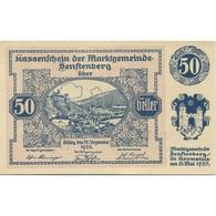Billet, Autriche, Senftenberg, 50 Heller, Château 1920-12-31, SPL Mehl:FS 993g - Austria