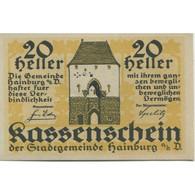 Billet, Autriche, Hainburg, 20 Heller, Château 1920-12-31, SPL Mehl:FS 337a - Austria