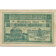 Billet, Autriche, Steyregg, 10 Heller, Manoir, 1920, SPL, Mehl:FS 1036Ia - Austria