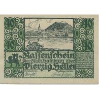 Billet, Autriche, Hainburg, 40 Heller, Paysage 1920-12-31, SPL Mehl:FS 337a - Austria