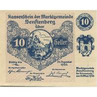 Billet, Autriche, Senftenberg, 10 Heller, Château 1920-12-31, SPL Mehl:FS 993g - Austria