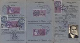 Carte D'identité De Représentant De Commerce Fiscal Fiscaux Daussy 336 X2 + 342 X3 + 409 X3 - Revenue Stamps