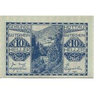 Billet, Autriche, Hüttau, 10 Heller, Forêt, 1921, 1921-01-31, SPL, Mehl:FS 401a - Austria