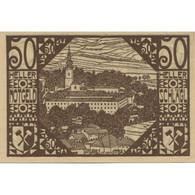 Billet, Autriche, Schlägl, 50 Heller, Eglise, SPL, Mehl:FS 960a - Austria