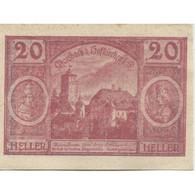 Billet, Autriche, Hofkirchen, 20 Heller, Village, SPL, Mehl:FS 386Ib - Austria