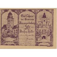 Billet, Autriche, Baumgarten, 30 Heller, Eglise 1920-12-31, SPL, Mehl:FS 79a - Austria