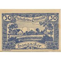 Billet, Autriche, Langacker, 30 Heller, Village, 1920-12-31, SPL Mehl:FS 500a - Austria