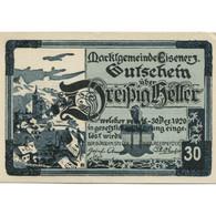 Billet, Autriche, Eisenerz, 30 Heller, Eglise 1920-12-31, SPL Mehl:FS 169 - Austria