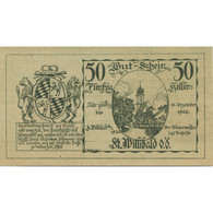 Billet, Autriche, Willibald, 50 Heller, Eglise 1920-12-31, SPL NMehl:FS 946Ad - Austria