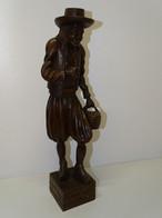 SUJET PERSONNAGE BRETON BOIS Sculpté COLLECTION DECO VITRINE ART POPULAIRE - Legni
