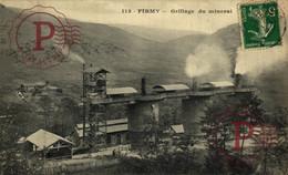 RARE CARTE Aveyron (12) - Firmy - Grillage Du Minerai METIER MINING MINA MINE - Firmi