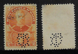 Haiti 1898 Stamp President Simon San With Perfin Monogram Perfore Lochung - Haití