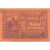 Billet, Autriche, Aichkirchen, 50 Heller, Eglise, 1921-01-31, SPL, Mehl:FS 11a - Austria