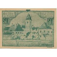 Billet, Autriche, Baumgarten, 50 Heller, Eglise 1920-12-31, SPL, Mehl:FS 79a - Austria