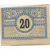 Billet, Autriche, Treubach, 20 Heller, Champs 1920-12-31, SPL, Mehl:FS 1082 - Austria