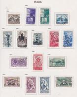 Italie N° 670 / 83 + 686 / 87 O  Les 16 Valeurs  Oblitérées,  TB - 1946-60: Used