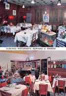 """13959"""" ALBERGO RISTORANTE ADRIANO DI GIASOLI-TORINO VIA POLLENZO 39 """"2 VEDUTE-VERA FOTO-CART. POST. NON SPED. - Hotels & Restaurants"""