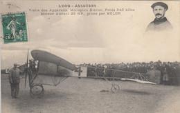 LYON AVIATION - Visite Des Appareils Monoplan Blériot Moteur Anzani Piloté Par MOLON - Meetings