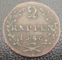 Suisse - Canton De Schwyz / Schwiz - Monnaie 2 Rappen 1846 - Suisse