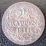 Suisse - Canton De Berne / Bern - Monnaie 2 1/2 Rappen 1811 - Suisse