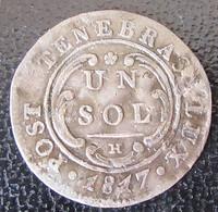 Suisse - Canton De Genève - Monnaie 1 Sol 1817 H - Suisse