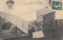 LYON AVIATION - METROT ( Biplan Voisin ) Après Sa Chute - Meetings
