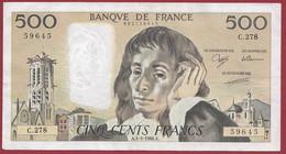 """France 500 Francs """"Pascal"""" Du 05/05/1988.A--ALPH.C.278 --  .dans L 'état (P.218) - 500 F 1968-1993 ''Pascal''"""